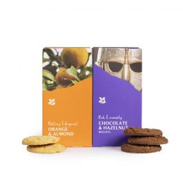 Duo Pack Biscuits: Chocolate and Hazelnut / Orange and Almond