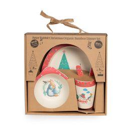 Beatrix Potter Peter Rabbit Christmas Bamboo Dinner Set