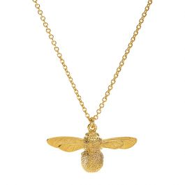 Alex Monroe Baby Bee Necklace, Sterling Silver 22ct Gold Plate