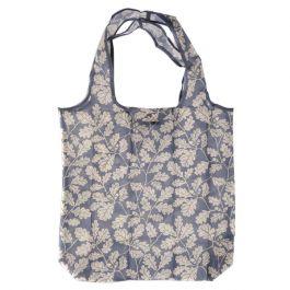 Recycled Packable Shopper Bag, Alfriston Clergy House Oak Leaf, Blue