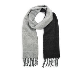 National Trust Men's Brushed Two Tone Scarf, Charcoal