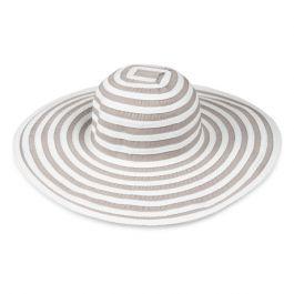 Wide Brim Woven Stripe Hat