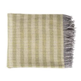 National Trust Merino Cable Wool Throw, Green