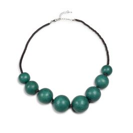 Graduated Round Bead Necklace, Green