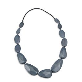 Faceted Pebble Necklace, Grey