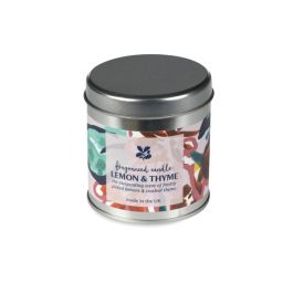 National Trust Lemon and Thyme Fragranced Tin Candle