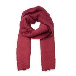 Pleated Scarf, Red