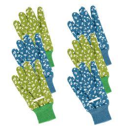 Chicory Design Garden Gloves, Triple Pack