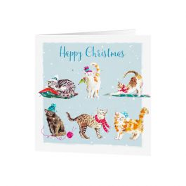 National Trust Wildlife Cats Christmas Cards, Pack of 10