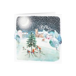 National Trust Carols in the Snow Christmas Cards, Pack of 10