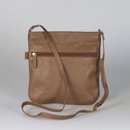 Leather Cross Body Bag, Tan
