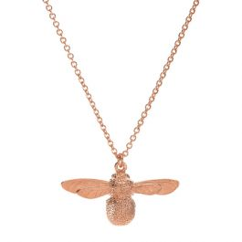 Alex Monroe Rose Gold Plated Baby Bee Necklace