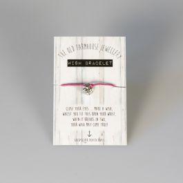 The Old Farmhouse Jewellery Wish Bracelet, Squirrel