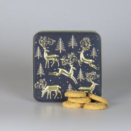 Christmas Stag Biscuit Tin