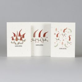 Plantable Christmas Cards pack of 3