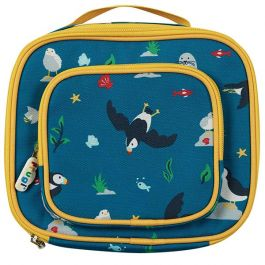 Frugi and National Trust Pack A Snack Lunch Bag, Paddling Puffins