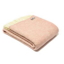 National Trust Beehive Wool Throw, Dusky Pink