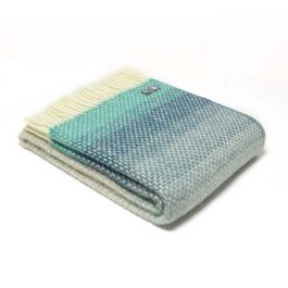 National Trust Ombre Throw, Grey/ Blue