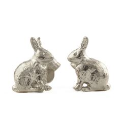 Alex Monroe Sitting Bunny Stud Earrings, Sterling Silver