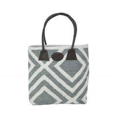 Weaver Green Shopper Bag, Iris Dove Grey