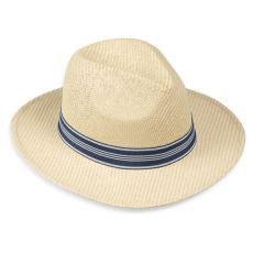 Men's Paper Hat with Blue Trim