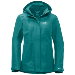 National Trust Jack Wolfskin Women's Longshaw Jacket, Emerald Green