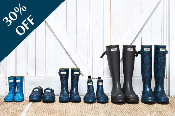 30% off hunter boots