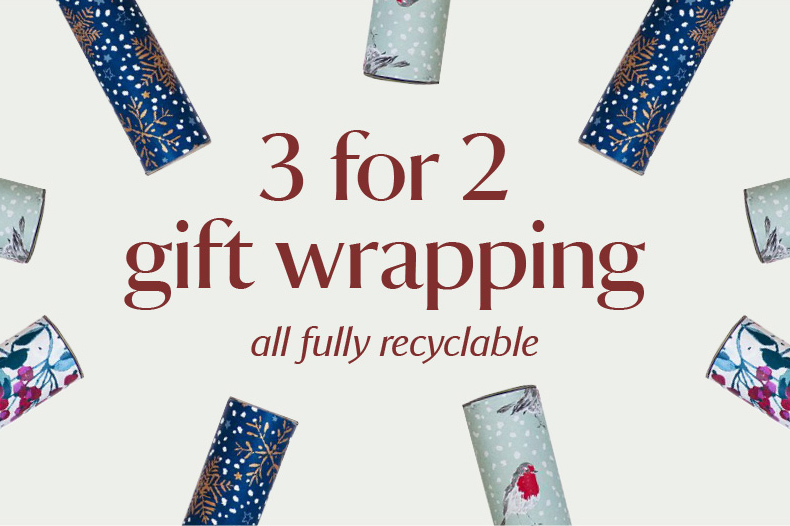 3 for 2 on selected gift wrap